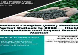 Thailand Complex (NPK) Fertilizer Market Research Report to 2022: Ken Research