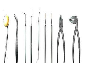 dental instruments. dentistry.