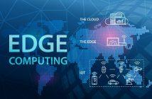 Edge Computing Internet Cloud Technology Concept Background